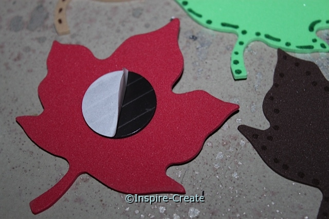 Fall Leaf Magnets... add an Adhesive Craft Magnet to the back of Craft Foam.