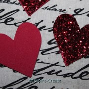 Easy to Make Glitter Hearts with Craft Foam