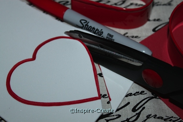 Easy Heart Cut-Outs:  Press craft foam with cookie cutter, then cut with scissors
