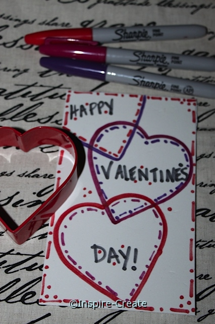 Happy Valentine's Day Card with Craft Foam and Cookie Cutters!