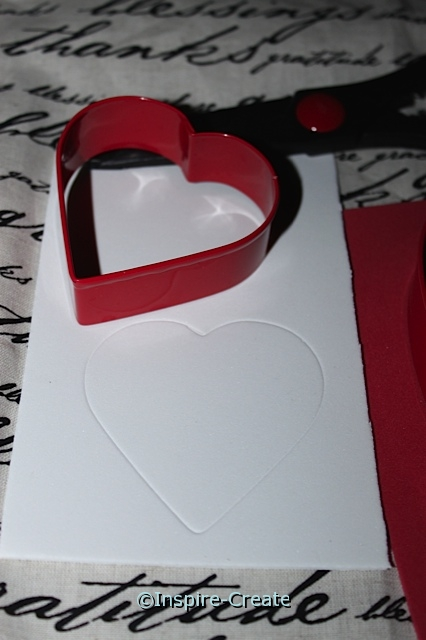 Use Cookie Cutters to indent craft foam to make the perfect heart cut-outs.