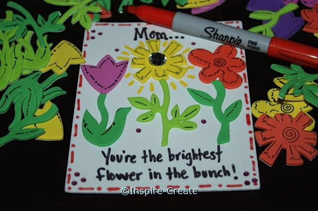 Mom...You're the brightest flower in the bunch...Flower Magnet Idea