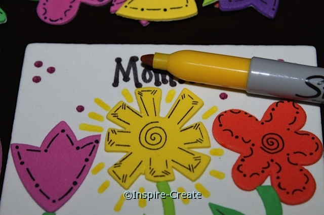 Mother's Day Gift... Add yellow Sharpie to the brightest flower