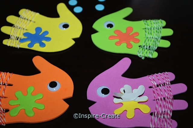 Fish Stick Puppets... Add Foamies Stickers to fish