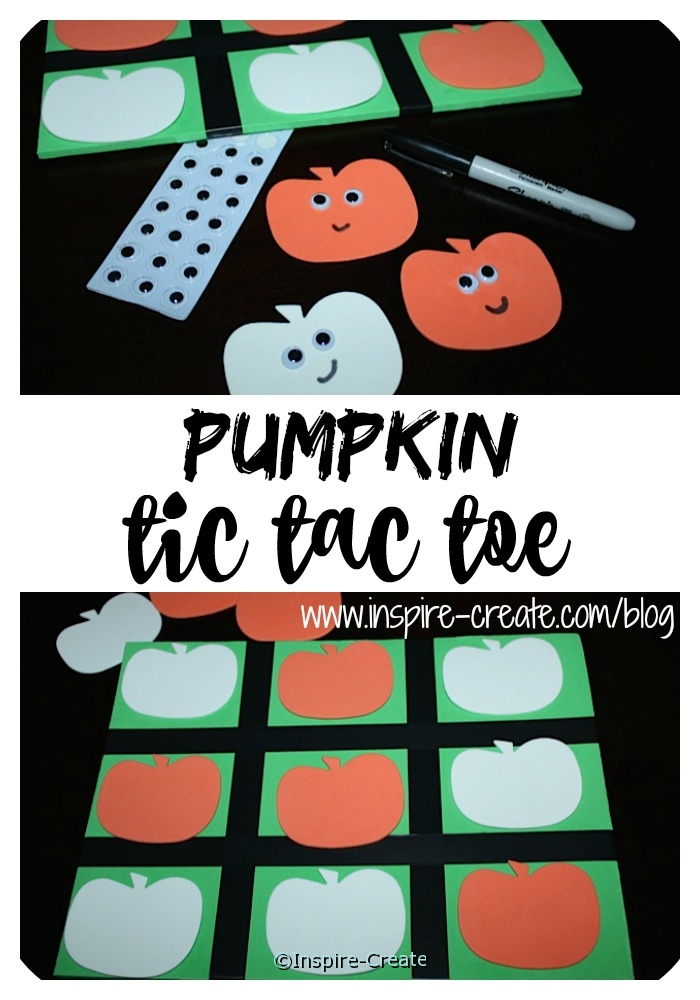 Easy to Make Pumpkin Tic Tac Toe Game with Craft Foam