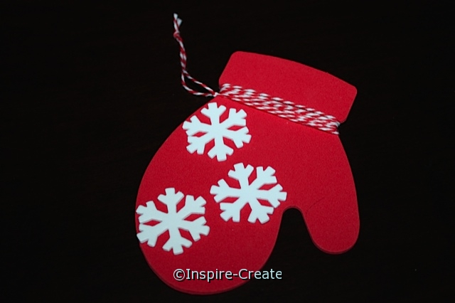 Red Mitten Ornaments...w/ White Snowflake Stickers