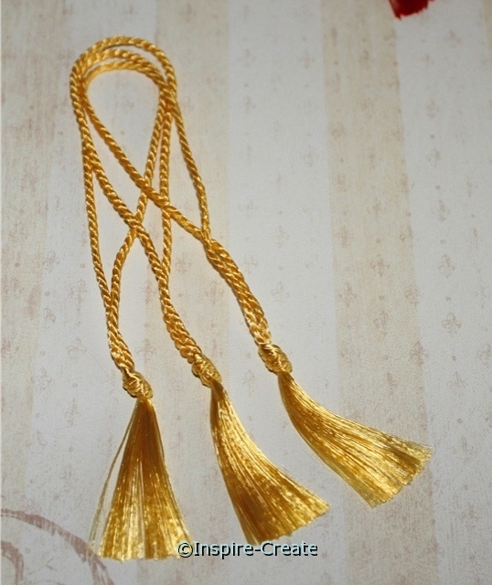 Bookmark Tassels Daffodil Yellow (50)*