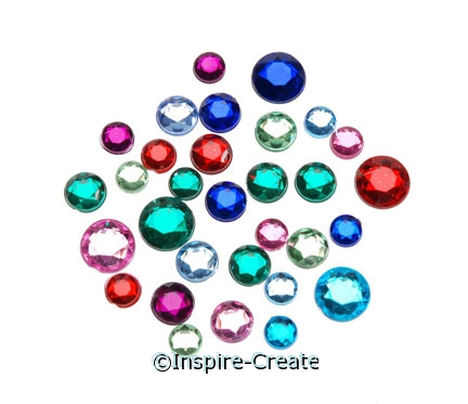1 lb. Multi Assorted Round Rhinestones*