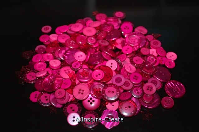 Raspberry Pink Craft Buttons (1/2 lb)*