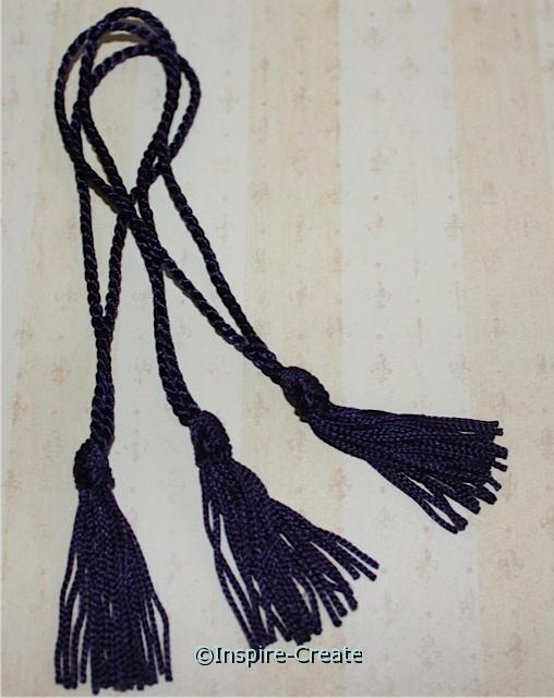 Navy Chainette Bookmark Tassels (50)*