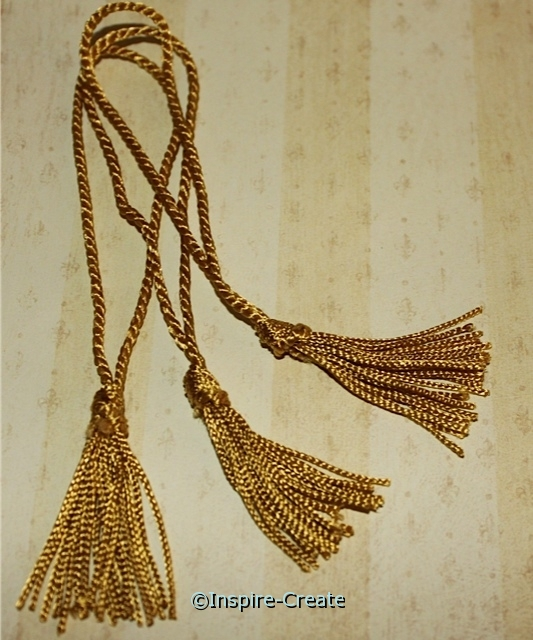 Old Gold Chainette Bookmark Tassels (50)*