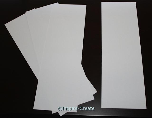 Medium White Bookmark Inserts (50)*