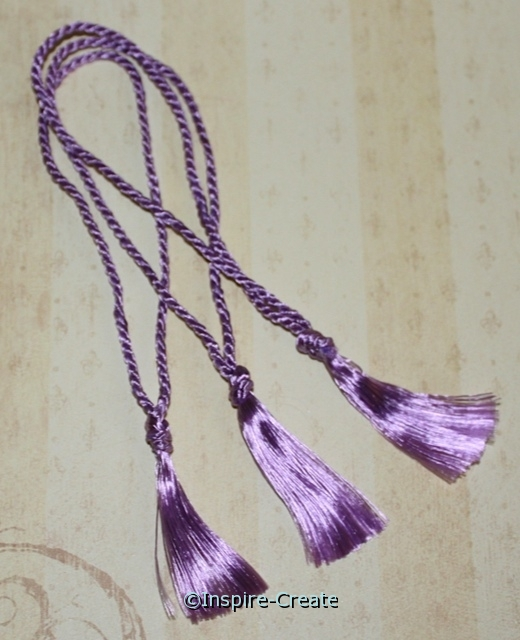 Bookmark Tassels Lavender (50)*