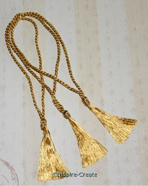 Bookmark Tassels Old Gold (50)*