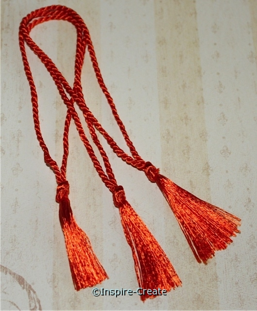 Bookmark Tassels Orange (50)*