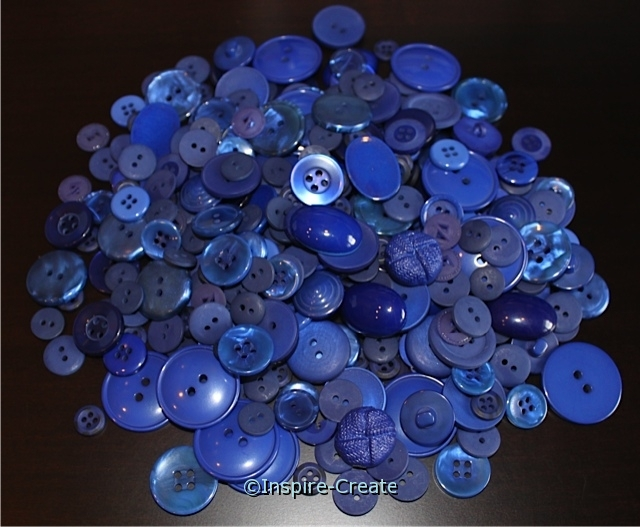 Blueberry Blue Craft Buttons (1/2 lb)*