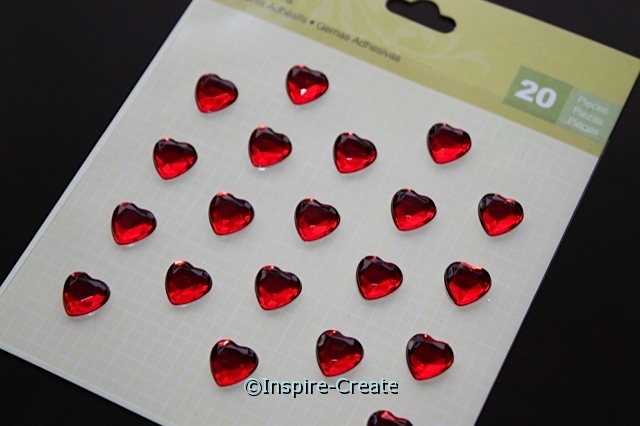 Red Heart Adhesive Gems (20)*