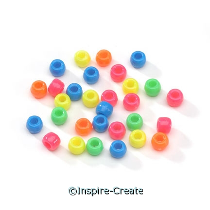 Bright Assorted Opaque Pony Beads (1000)*