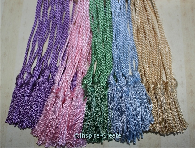 Light Assorted Chainette Bookmark Tassels (50)*