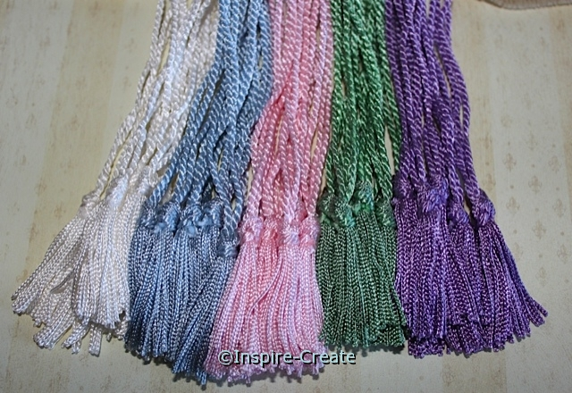 Pastel Assorted Chainette Bookmark Tassels (50)*