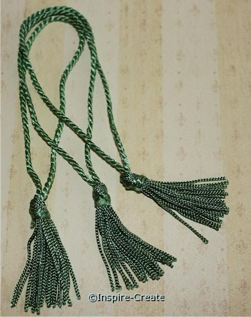Sea Foam Green Chainette Bookmark Tassels (50)*