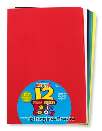 Foamies Sticky Back 9x12 Basic (12)*