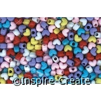 Heart Pony Beads 1 lb. Bag*
