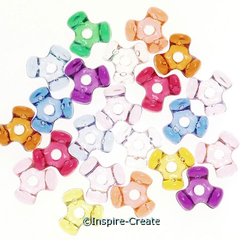 Multi Transparent 11mm Tri-beads (2300)*