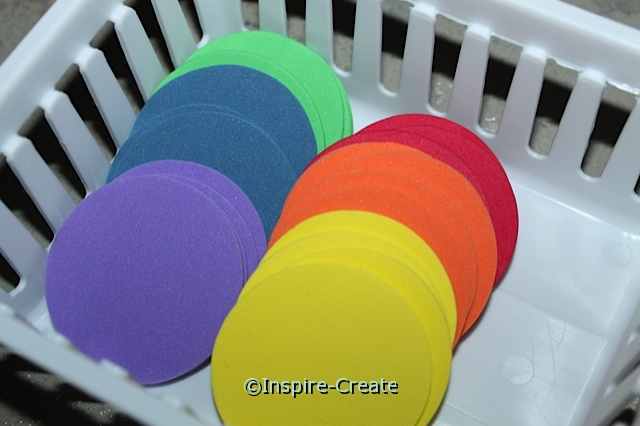 "Foam 2"" Multi Circle SHAPES (Bulk 192) ~All Sales Final"