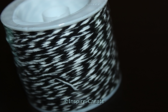Black/White Twist Baker's Twine 50 yds*