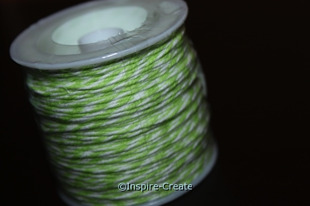 Lime/White Twist Baker's Twine 50 yds*