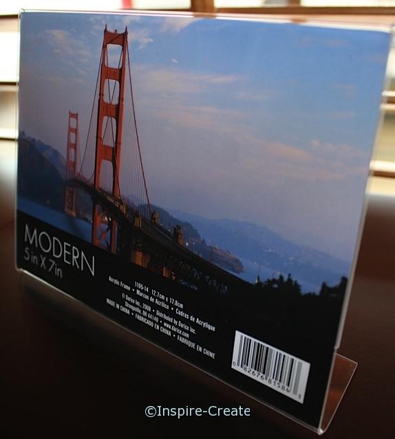 Bent Acrylic Horizontal Frame 7x5