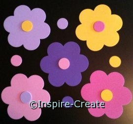 Bubble Flower & Dot Foam SHAPES Pack (60) ~All Sales Final