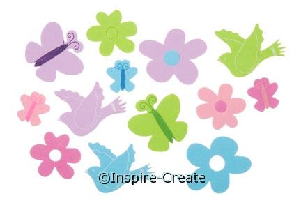 Foamies Butterfly, Flower, & Bird Stickers (50)*