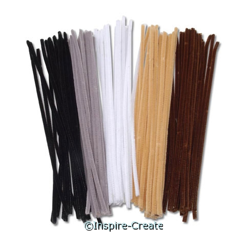 Animal Color Assorted Chenille Stems (100)*