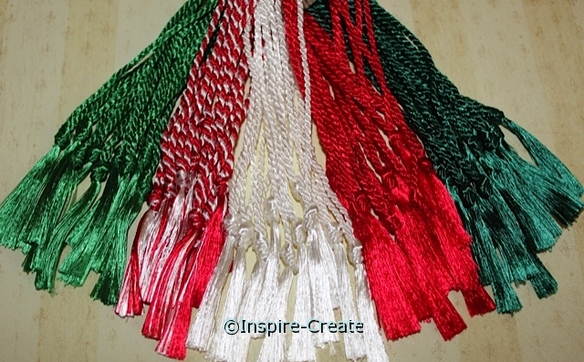 Bookmark Tassels Christmas Assorted (50)*