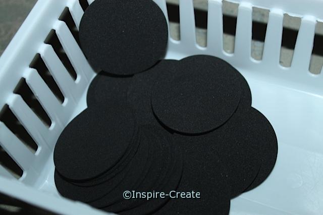 "Black 1 3/4"" Foam Circle SHAPES (Bulk 192) ~All Sales Final"
