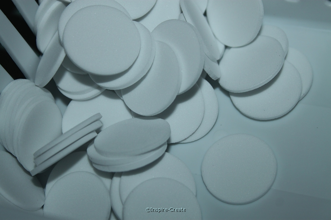 "1"" White Foam Circle SHAPES (Bulk 360) ~All Sales Final"