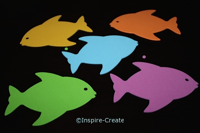 Large Tropical Fish Foam SHAPES (Bulk 60) ~All Sales Final