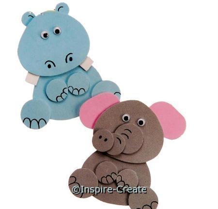Foamies Elephant & Hippo Kit*