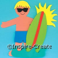 Foamies Surfer Craft Kits Makes 6*