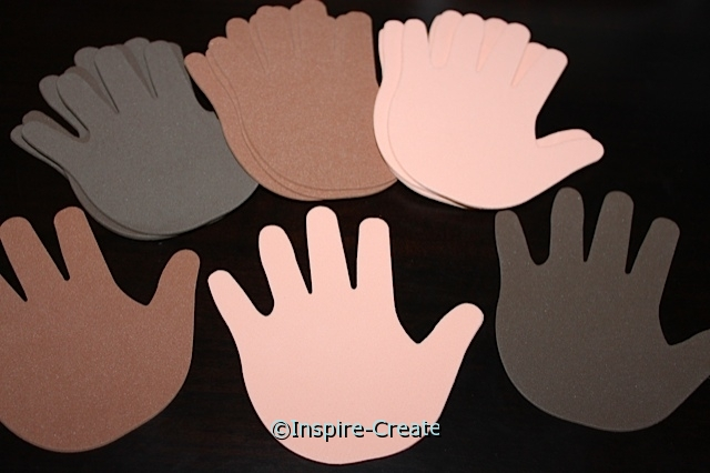 Foam Skin Tone Large Handprints (Bulk 60) ~All Sales Final