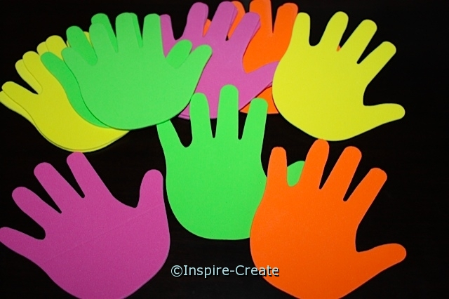 Foam Bright Large Handprints (Bulk 60) ~All Sales Final