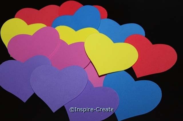 Multi Heart Foam SHAPES Pack (Bulk 90)*