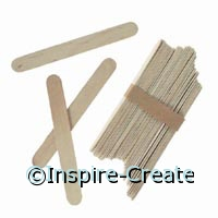 Jumbo Natural Wood Craft Sticks (100)*