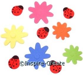 Foamies Ladybug & Flower Stickers (83)*