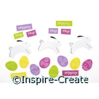 Foamies Leaping Bunny & Egg Stickers (75)*