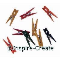 Multi Mini Clothespins (50)*