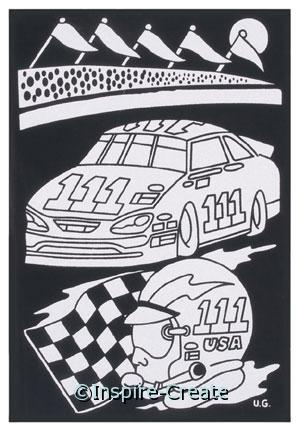 Race Car Velvet Poster Set*