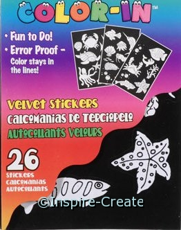 Velvet Sea Life Sticker Book*